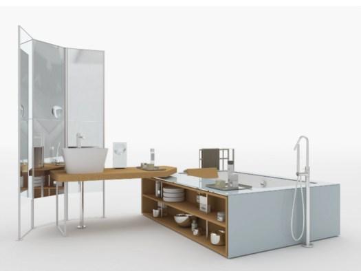 Vasca Da Bagno Makro : Wing table by makro piano lavabo e vasca integrati speciale lavabi